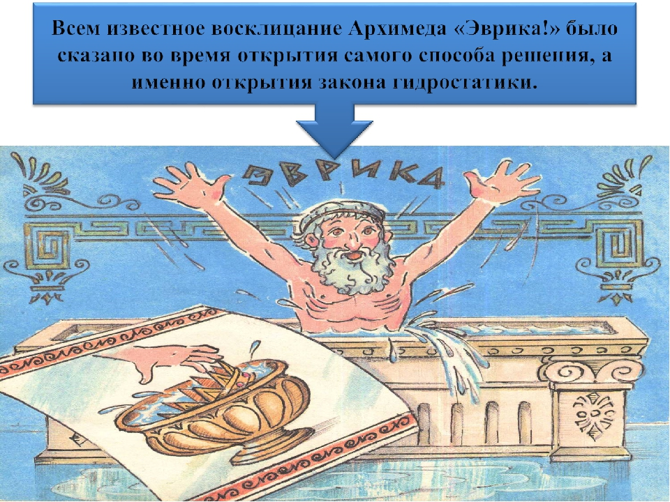 Картинка архимеда в ванной