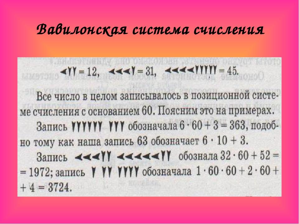 того, картинки вавилонской системы счисления того, гости смогут