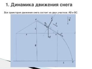 1. Динамика движения снега Вся траектория движения снега состоит из двух учас