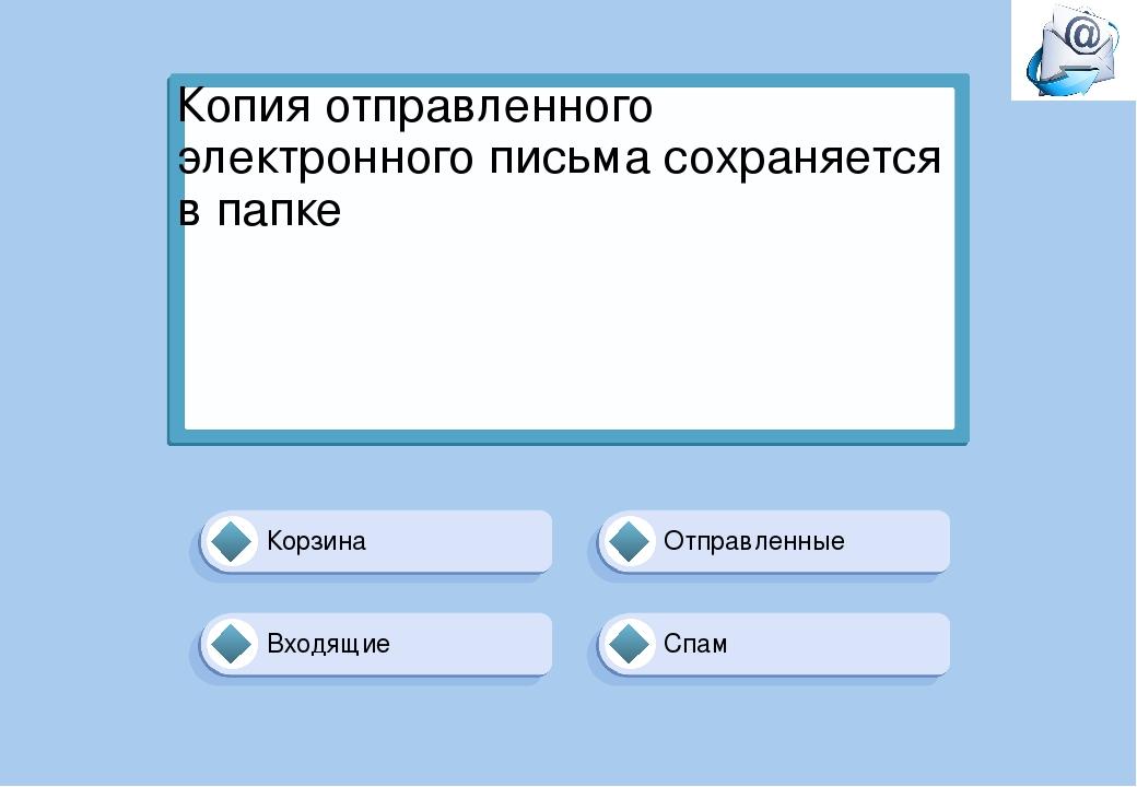 Отправленные Корзина Спам Входящие Копия отправленного электронного письма со...