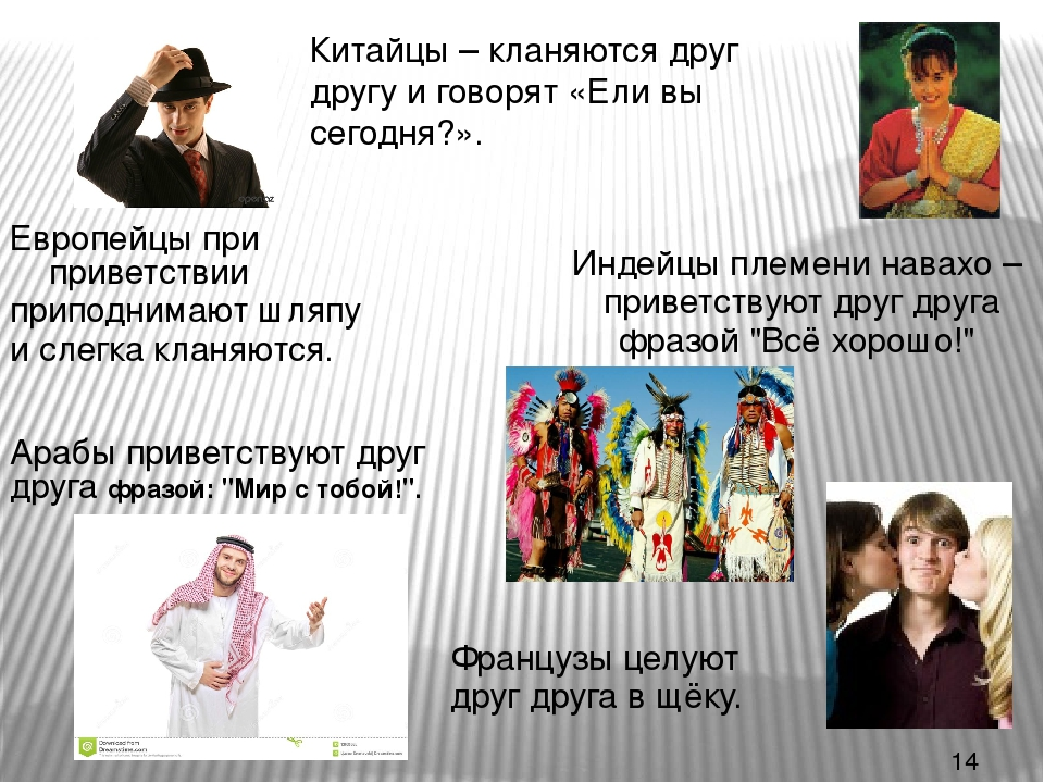 языках на приветствие знакомство разных