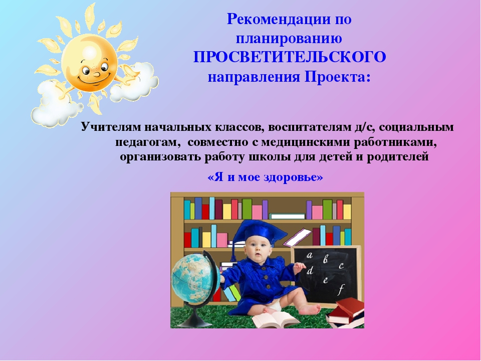 Рекомендации по планированию ПРОСВЕТИТЕЛЬСКОГО направления Проекта: Учителям...