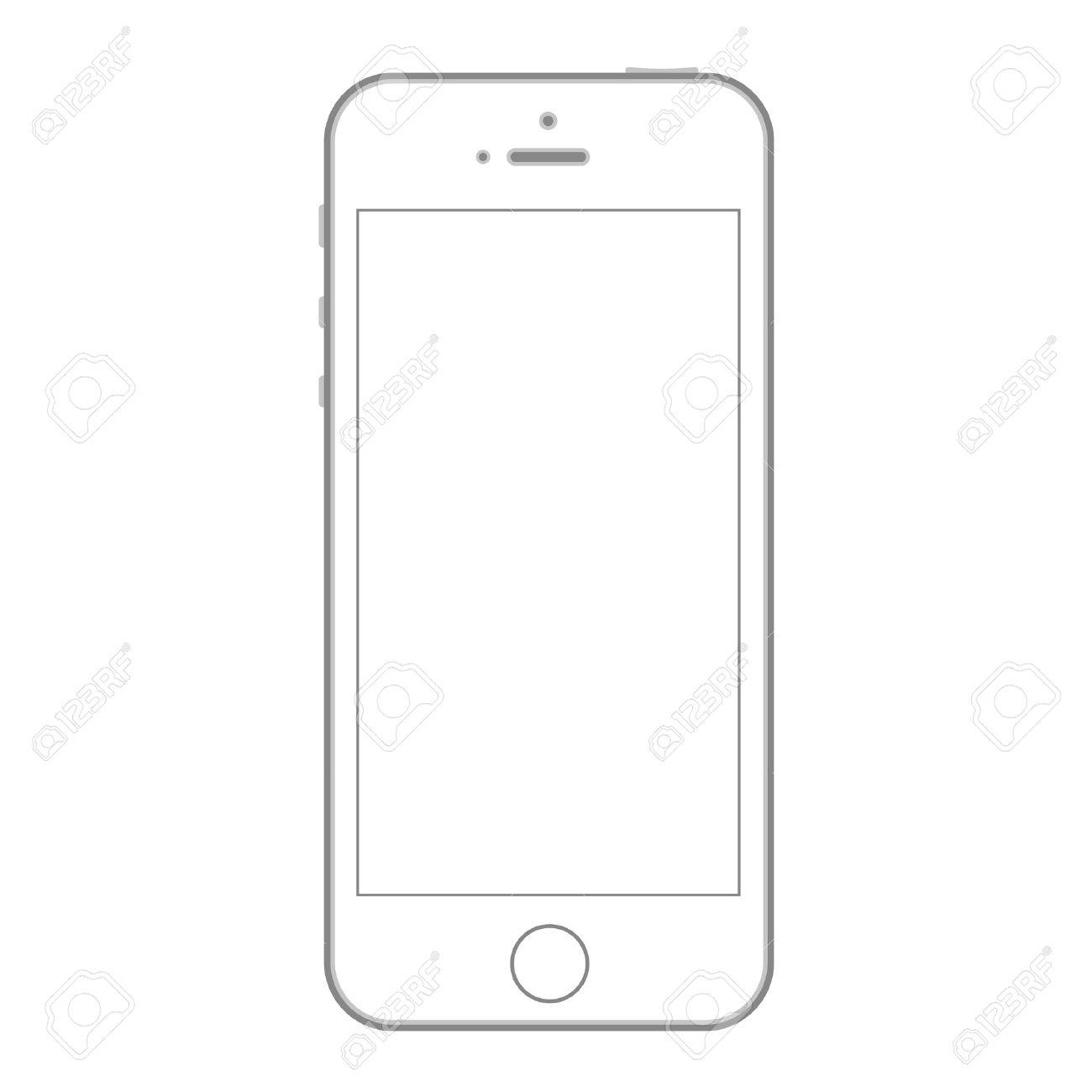 Открытка в виде телефона шаблон