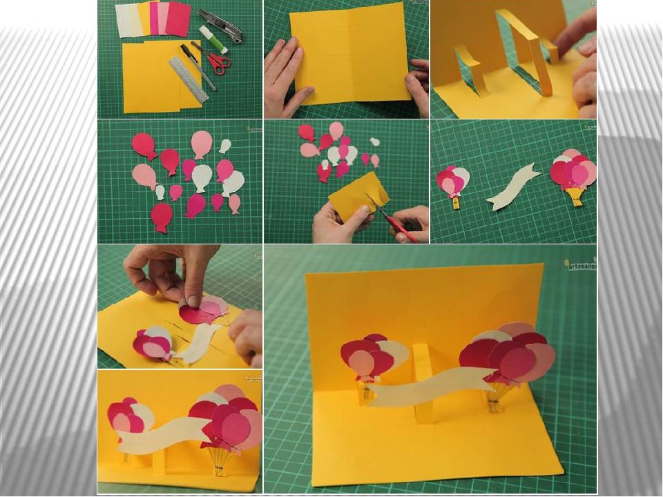 Фото как сделать открытку на день рождения своими руками