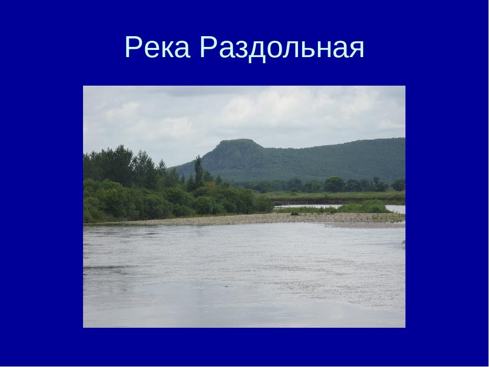 Река Раздольная