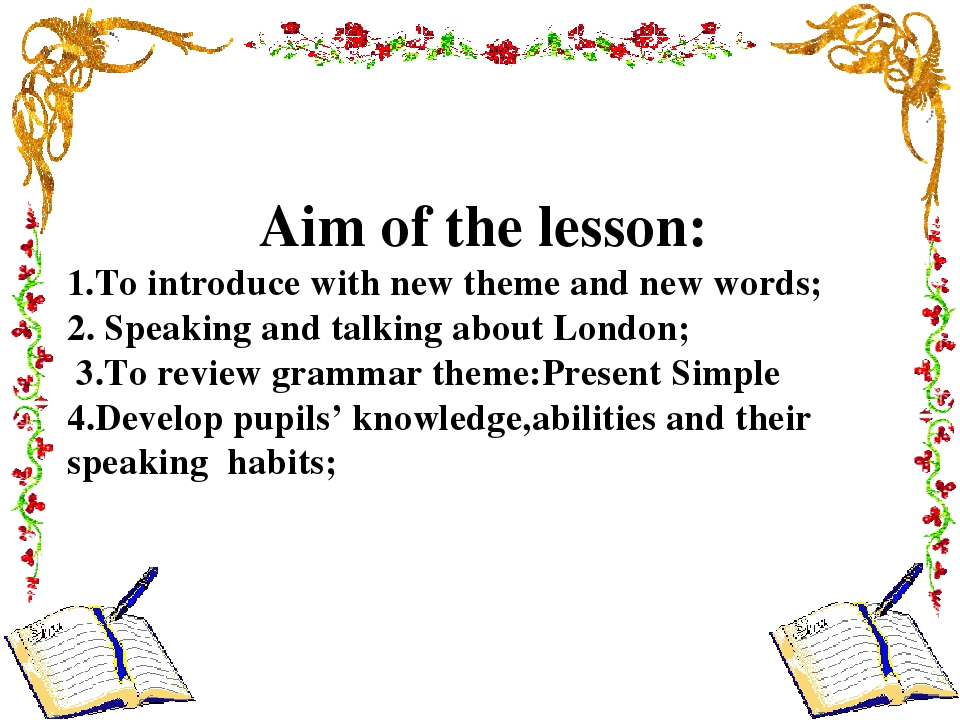 Aim of the lesson: 1.To introduce with new theme and new words; 2. Speaking a...