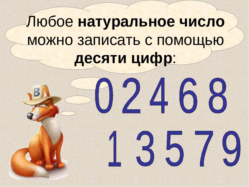 Натуральные числа - презентация 8521-2