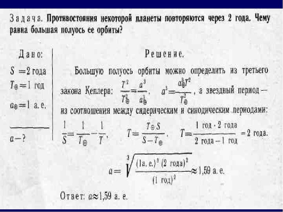 Задача на закон кеплера с решением задача и решение на сложные проценты