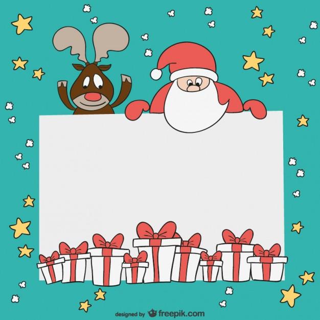 Печать новогодние открытки, билет