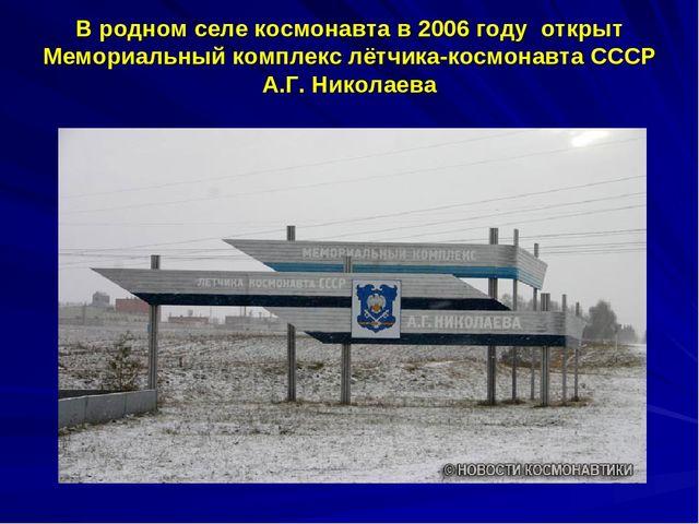 В родном селе космонавта в 2006 году открыт Мемориальный комплекс лётчика-кос...
