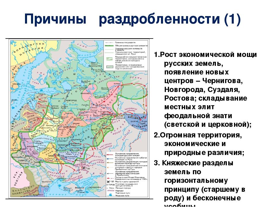 Шпаргалки руси x-xiii на политическая раздробленность