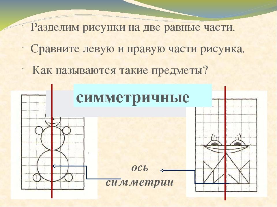 Разделение рисунка на части