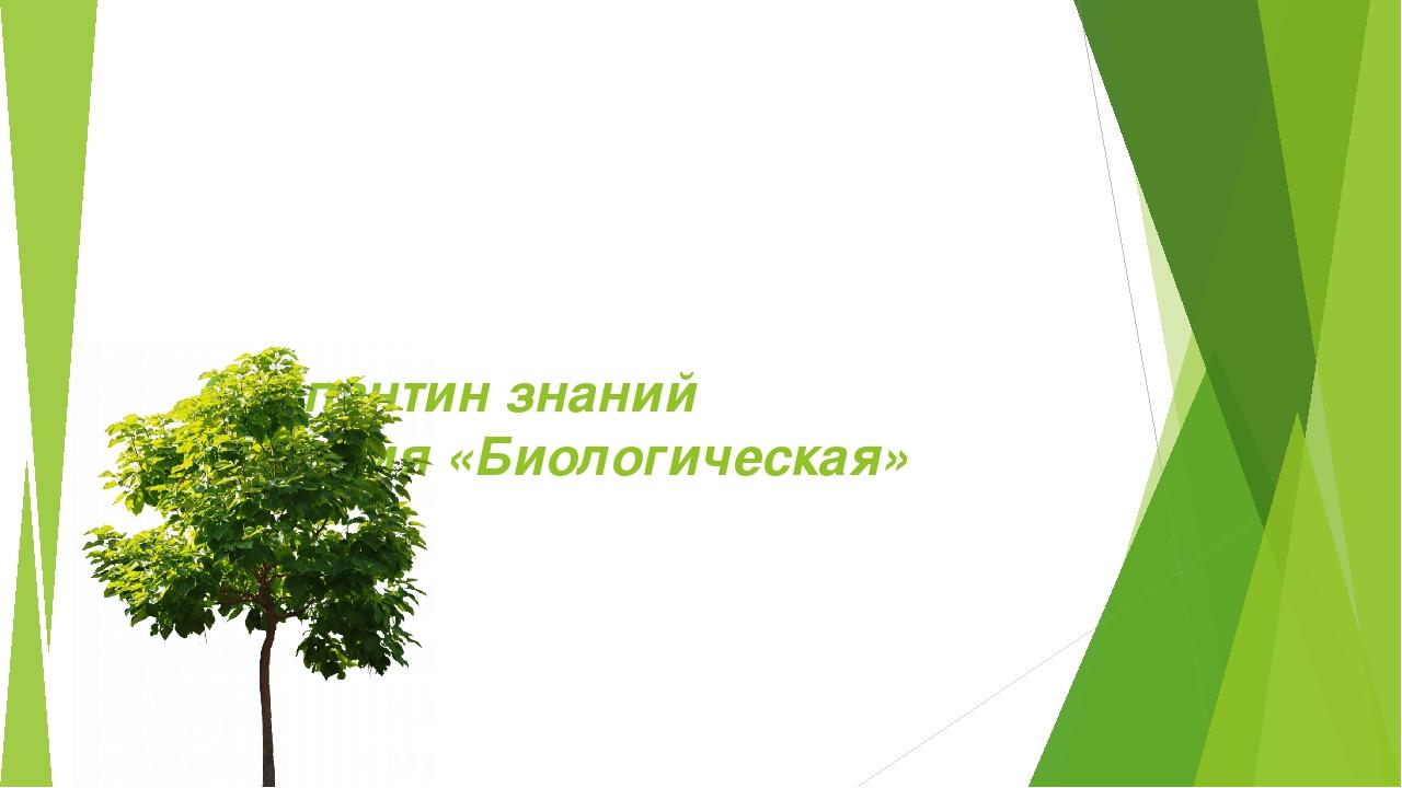 Серпантин знаний Станция «Биологическая»