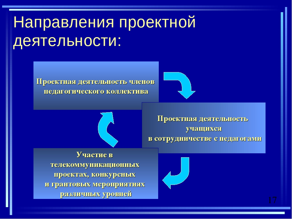Направления проектной деятельности: