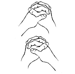 Как рисовать руки замком