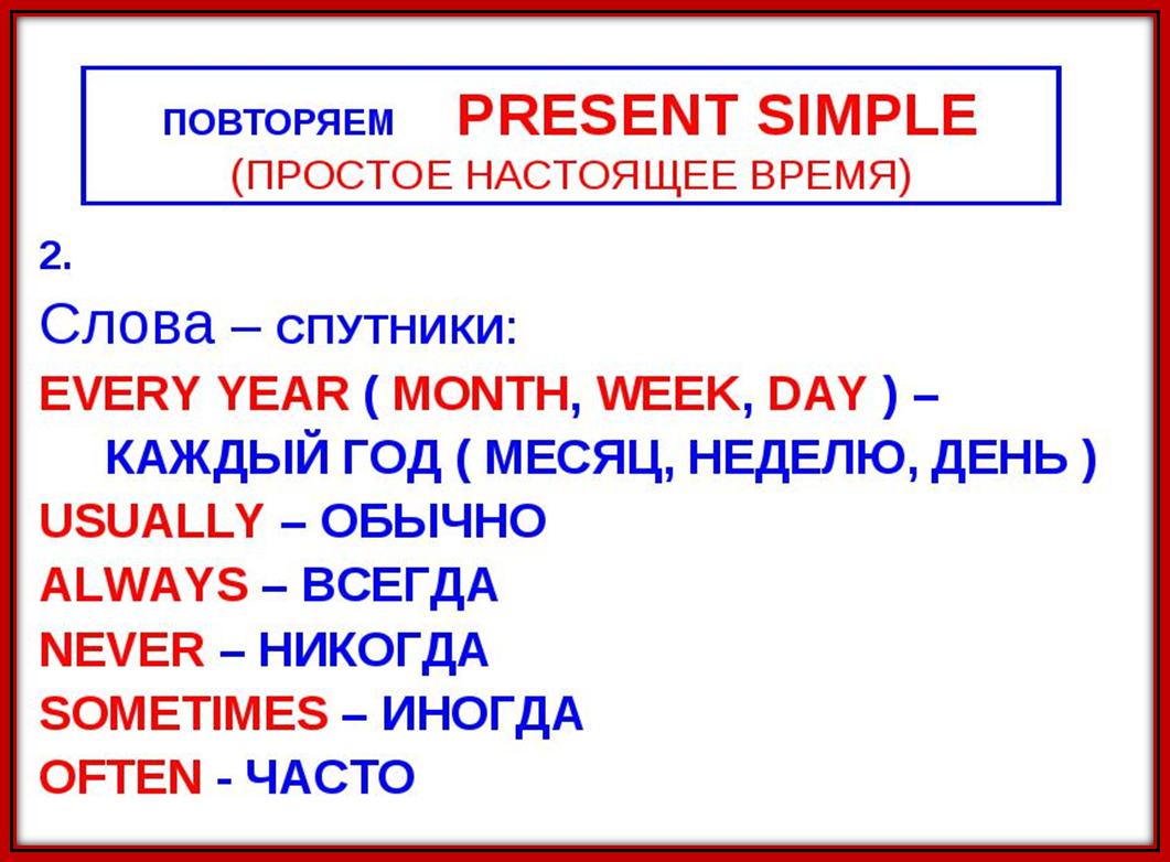 Времена в английском языке - доступно и подробно с таблицами