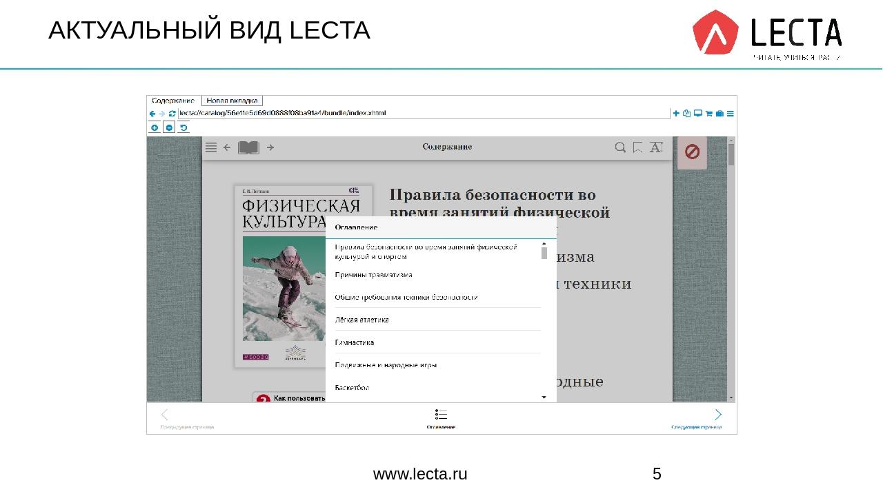 АКТУАЛЬНЫЙ ВИД LECTA www.lecta.ru