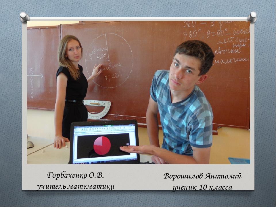 Ворошилов Анатолий ученик 10 класса